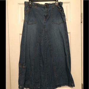 Dresses & Skirts - Cargo Denim Skirt